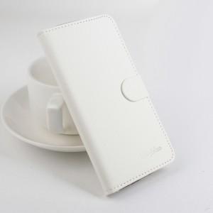 Чехол портмоне подставка на силиконовой основе с отсеком для карт на магнитной защелке для Xiaomi RedMi 4A Белый