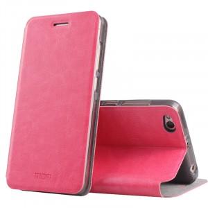 Глянцевый водоотталкивающий чехол горизонтальная книжка подставка на силиконовой основе для Xiaomi RedMi 4A Розовый