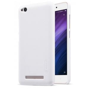 Пластиковый непрозрачный матовый чехол с повышенной шероховатостью для Xiaomi RedMi 4A Белый