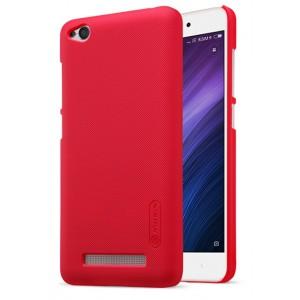 Пластиковый непрозрачный матовый чехол с повышенной шероховатостью для Xiaomi RedMi 4A Красный