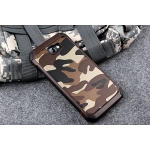 Силиконовый матовый непрозрачный чехол с нескользящими гранями и поликарбонатными вставками текстура Камуфляж для Samsung Galaxy J5 Prime