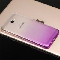 Силиконовый глянцевый полупрозрачный градиентный чехол для Samsung Galaxy J5 Prime  Фиолетовый