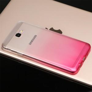Силиконовый глянцевый полупрозрачный градиентный чехол для Samsung Galaxy J5 Prime
