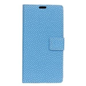 Чехол горизонтальная книжка подставка текстура Кирпичи на силиконовой основе с отсеком для карт на магнитной защелке для BQ Aquaris U Lite