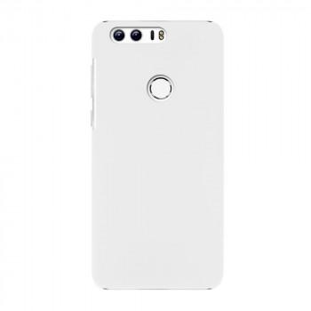 Пластиковый непрозрачный матовый чехол для Huawei Honor 8 Белый