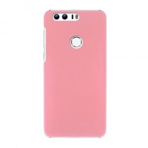 Пластиковый непрозрачный матовый чехол для Huawei Honor 8 Розовый