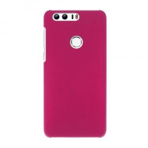 Пластиковый непрозрачный матовый чехол для Huawei Honor 8 Пурпурный