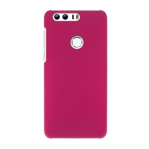 Пластиковый непрозрачный матовый чехол для Huawei Honor 8 Черный
