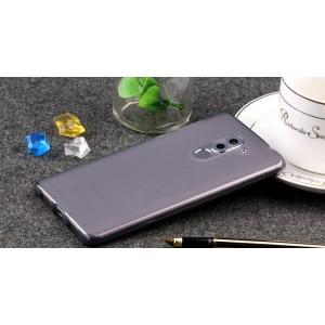 Силиконовый матовый полупрозрачный чехол для Huawei Honor 6X Черный