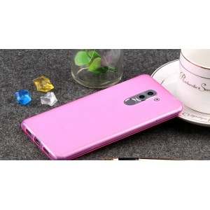 Силиконовый матовый полупрозрачный чехол для Huawei Honor 6X Розовый
