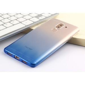 Силиконовый глянцевый полупрозрачный градиентный чехол для Huawei Honor 6X