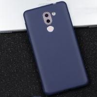 Силиконовый матовый непрозрачный чехол для Huawei Honor 6X  Синий