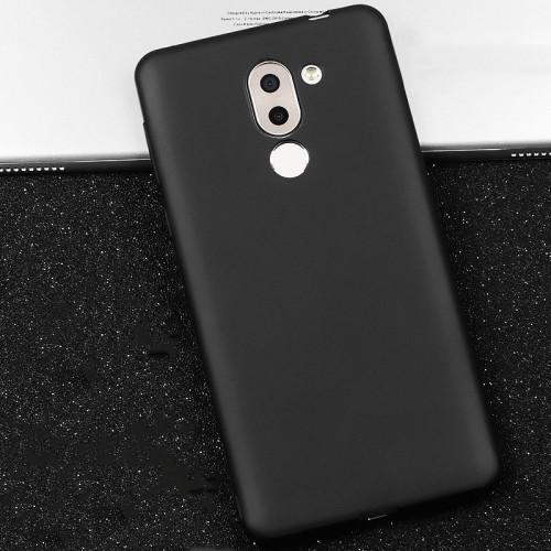 Силиконовый матовый непрозрачный чехол для Huawei Honor 6X  Черный