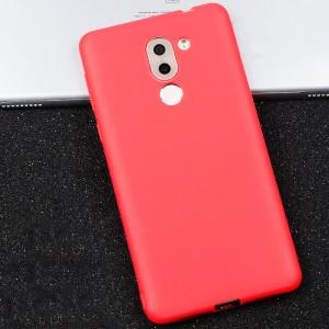 Силиконовый матовый непрозрачный чехол для Huawei Honor 6X  Красный