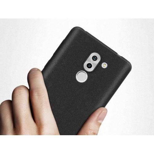 Силиконовый матовый непрозрачный чехол с нескользящим софт-тач покрытием для Huawei Honor 6X
