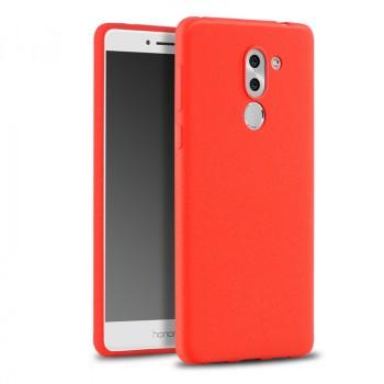 Силиконовый матовый непрозрачный чехол с нескользящим софт-тач покрытием для Huawei Honor 6X  Красный