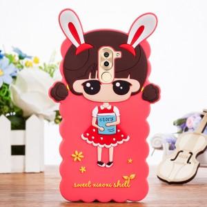 Силиконовый матовый непрозрачный дизайнерский фигурный чехол для Huawei Honor 6X