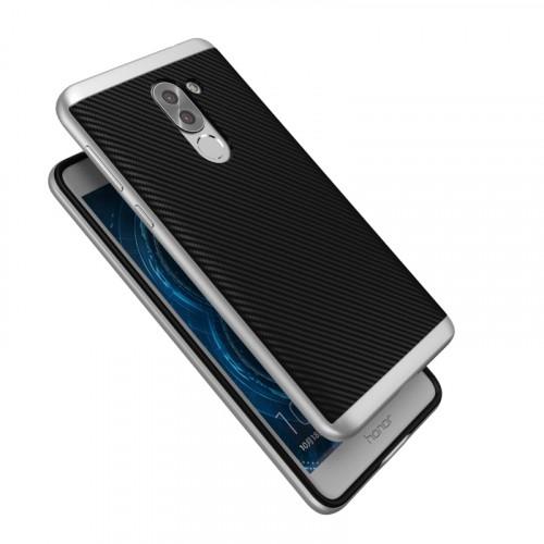 Силиконовый матовый непрозрачный чехол с поликарбонатным бампером для Huawei Honor 6X