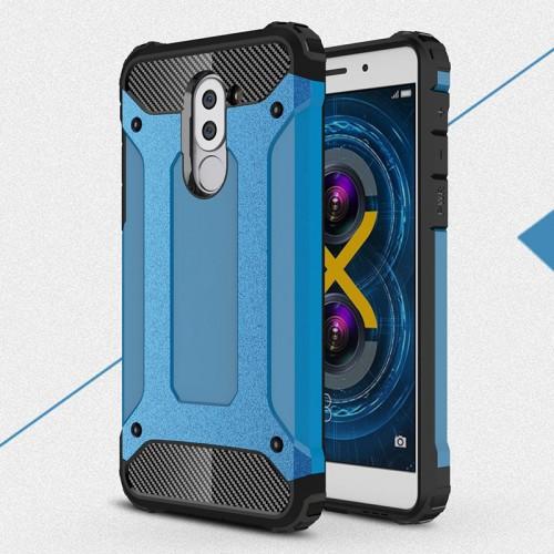 Силиконовый матовый непрозрачный чехол с поликарбонатными вставками экстрим защиты для Huawei Honor 6X
