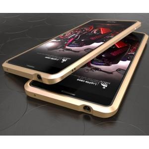 Металлический прямоугольный бампер сборного типа на винтах для Huawei Honor 6X Бежевый
