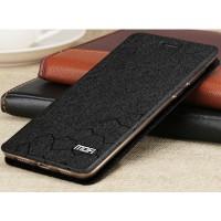 Чехол горизонтальная книжка подставка текстура Соты на силиконовой основе для Huawei Honor 6X Черный