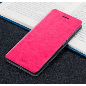 Глянцевый водоотталкивающий чехол горизонтальная книжка подставка на силиконовой основе для Huawei Honor 6X Пурпурный