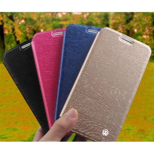 Чехол горизонтальная книжка подставка текстура Дерево на силиконовой основе для Huawei Honor 6X Черный