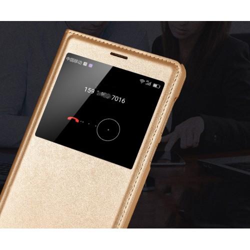 Чехол горизонтальная книжка на пластиковой основе с окном вызова для Huawei Honor 6X