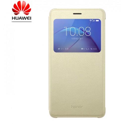 Оригинальный чехол горизонтальная книжка на пластиковой основе с окном вызова для Huawei Honor 6X