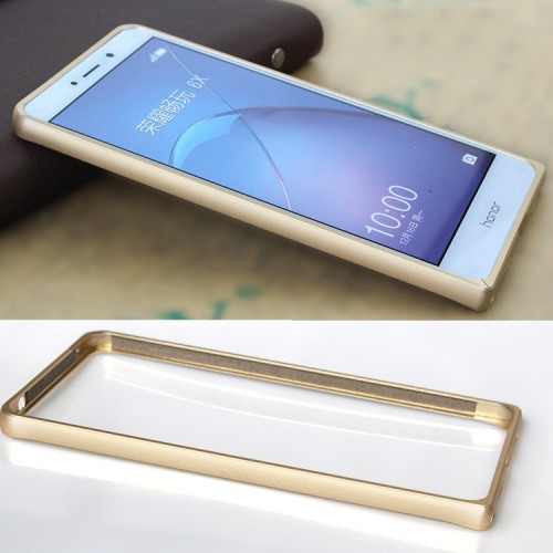 Металлический округлый бампер сборного типа на винтах для Huawei Honor 6X  Бежевый