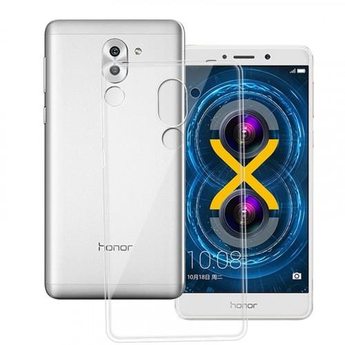 Силиконовый глянцевый транспарентный чехол для Huawei Honor 6X