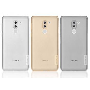 Силиконовый глянцевый полупрозрачный чехол с защитными заглушками для Huawei Honor 6X