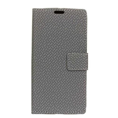 Чехол горизонтальная книжка подставка текстура Кирпичи на силиконовой основе с отсеком для карт на магнитной защелке для Huawei Honor 6X
