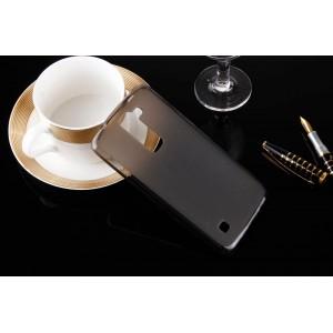 Силиконовый матовый полупрозрачный чехол для LG K7  Черный
