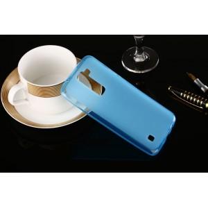 Силиконовый матовый полупрозрачный чехол для LG K7  Голубой