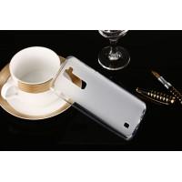 Силиконовый матовый полупрозрачный чехол для LG K7  Белый