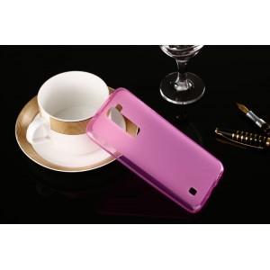 Силиконовый матовый полупрозрачный чехол для LG K7  Розовый