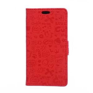 Чехол горизонтальная книжка подставка текстура Узоры на силиконовой основе с отсеком для карт на магнитной защелке для Huawei Honor 6X