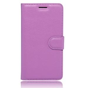 Чехол портмоне подставка на силиконовой основе с отсеком для карт на магнитной защелке для Huawei Honor 6X  Фиолетовый