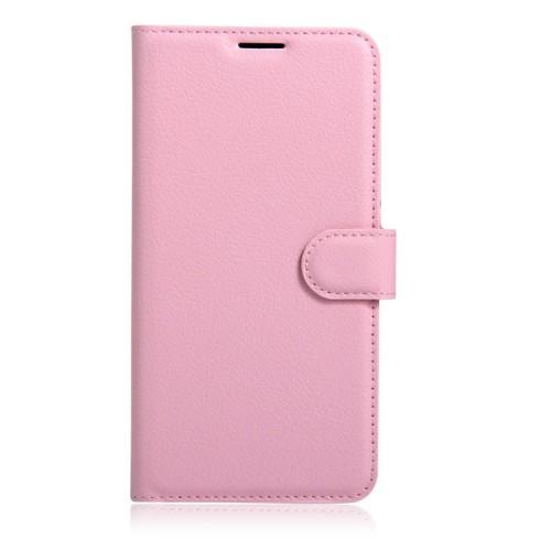 Чехол портмоне подставка на силиконовой основе с отсеком для карт на магнитной защелке для Huawei Honor 6X  Белый