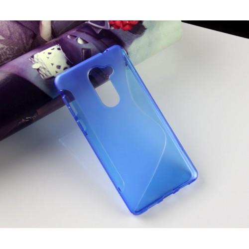 Силиконовый матовый полупрозрачный чехол с нескользящими гранями и дизайнерской текстурой S для Huawei Honor 6X  Синий