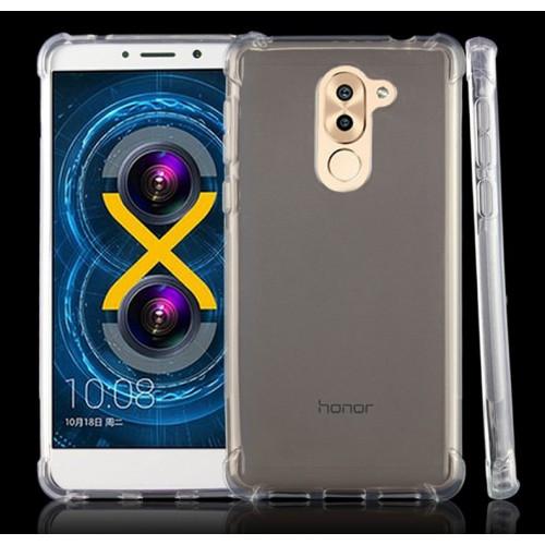 Силиконовый глянцевый транспарентный чехол с нескользящими гранями и усиленными углами для Huawei Honor 6X