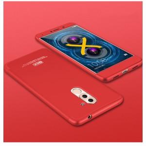 Пластиковый непрозрачный матовый чехол сборного типа для Huawei Honor 6X  Красный