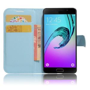 Чехол портмоне подставка на силиконовой основе с отсеком для карт на магнитной защелке для Samsung Galaxy A3 (2017)