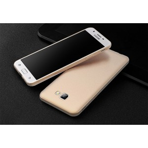 Пластиковый непрозрачный матовый чехол с повышенной шероховатостью и допзащитой торцев для Samsung Galaxy A3 (2017)