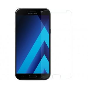 Ультратонкое износоустойчивое сколостойкое олеофобное защитное стекло-пленка для Samsung Galaxy A3 (2017)