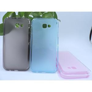 Силиконовый матовый полупрозрачный чехол для Samsung Galaxy A5 (2017)
