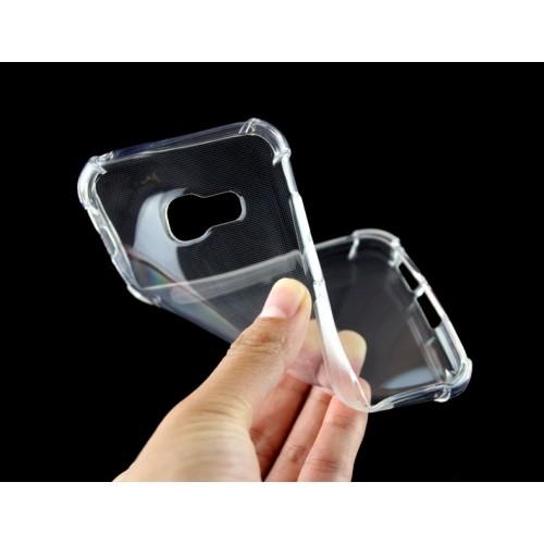 Силиконовый глянцевый транспарентный чехол с нескользящими гранями и усиленными углами для Samsung Galaxy A5 (2017)