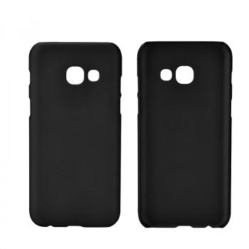 Пластиковый непрозрачный матовый чехол для Samsung Galaxy A5 (2017) Черный