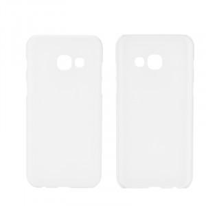 Пластиковый непрозрачный матовый чехол для Samsung Galaxy A5 (2017) Белый